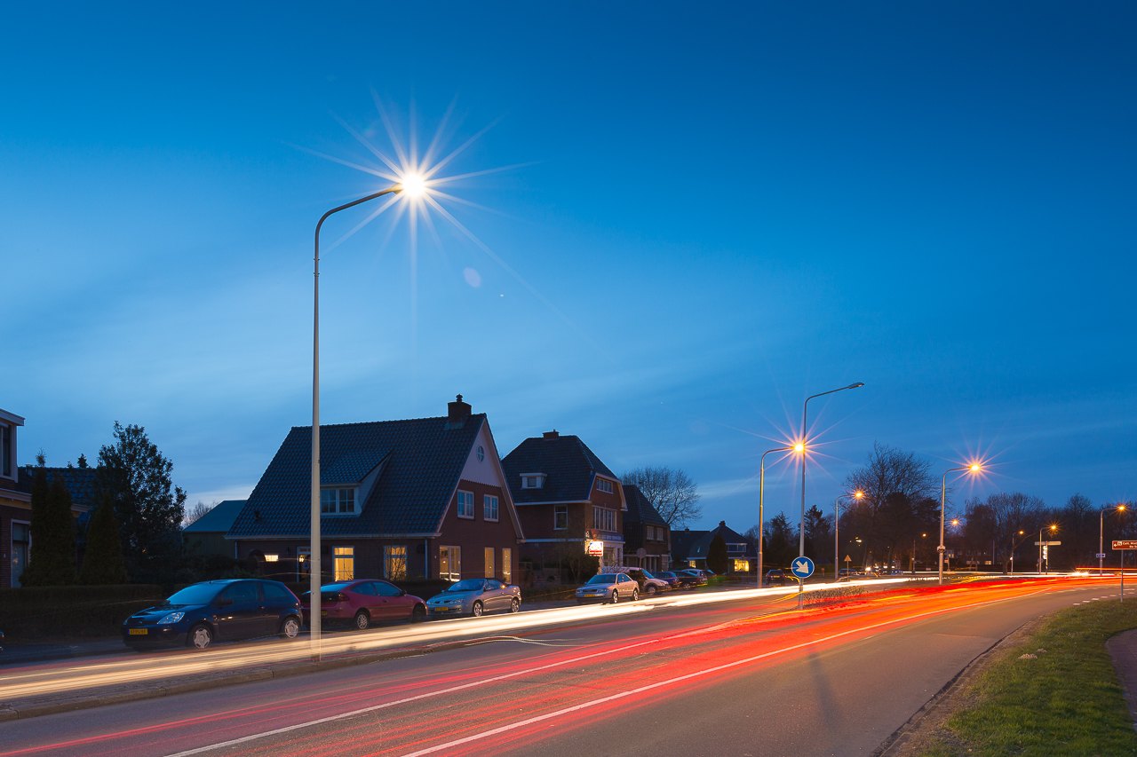 LED verlichting langs de provinciale wegen in Friesland!