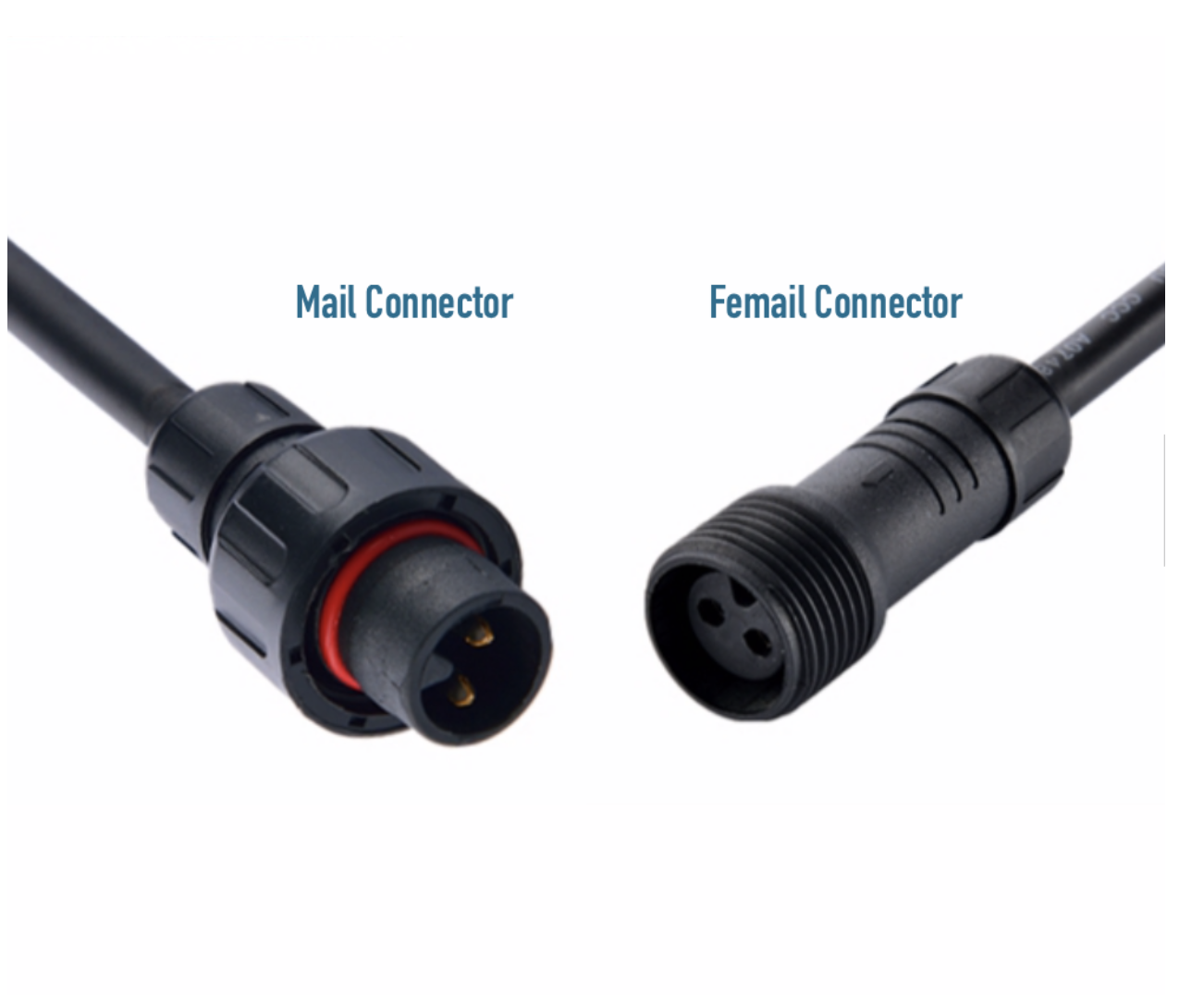 LED Outdoor Male connector kabel WW