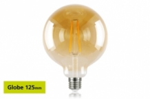 E27 LED 125 mm Globe 2,5W (40W) Filament Gloeilamp